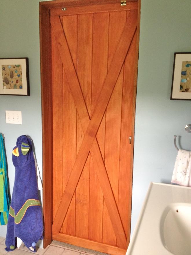 sliding barn door for the bathroom